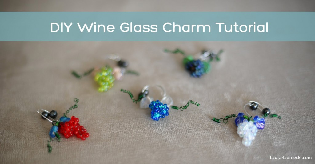 DIY Wine Glass Charm Tutorial by Laura Radniecki