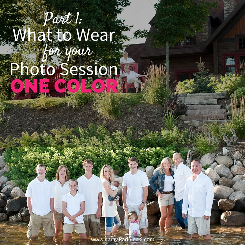 Photography Tip- What to Wear for Your Photo Session, Part 1 - Monochromatic color scheme, all one color.