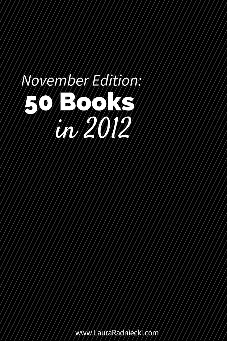 50 Books in 2012 – November Recap