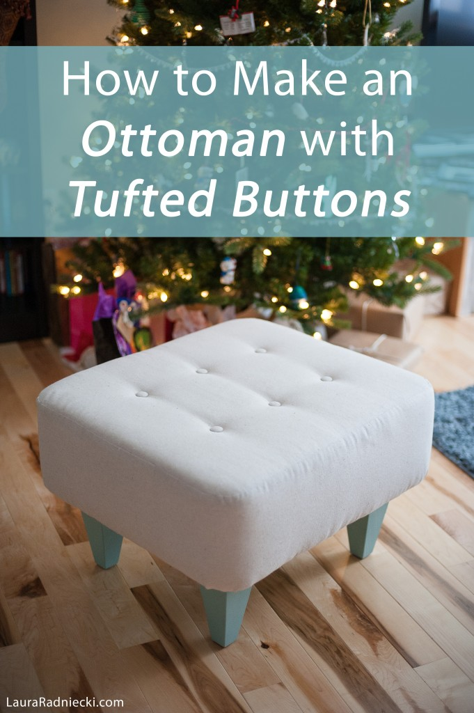 diy ottoman with tufted buttons tutorial how to make an. Black Bedroom Furniture Sets. Home Design Ideas