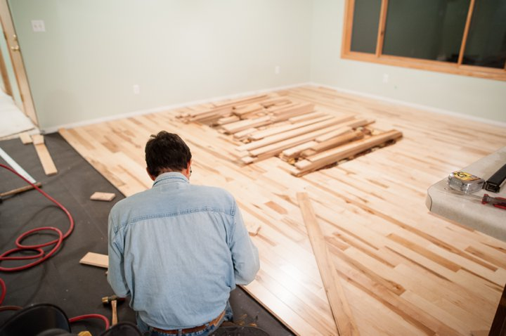 Our First Home - Phase two of renovations | Hardwood Floor Installation