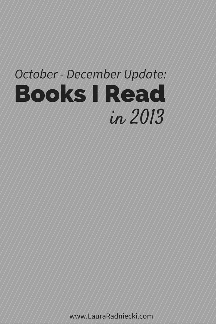 2013 Book Recap – October to December