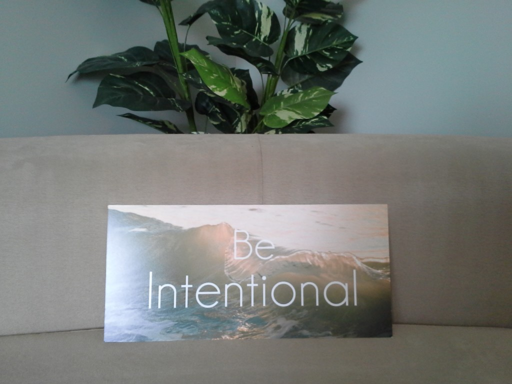 Be Intentional - My 2014 Word - Laura Radniecki