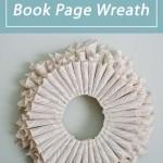 DIY Book Page Wreath - A DIY Tutorial