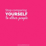 Video Post- Stop Comparing Yourself to Others