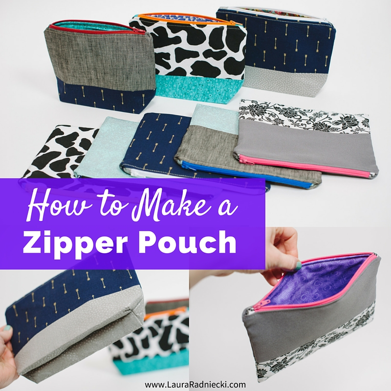 Zipper Pouch Tutorial - How to Make a Zippered Pouch - Easy Zipper Pouch
