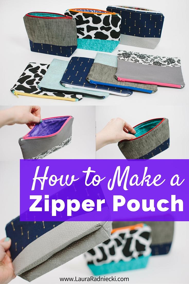 Zipper Pouch Tutorial - How to Make a Zippered Pouch - Easy Zipper Pouch