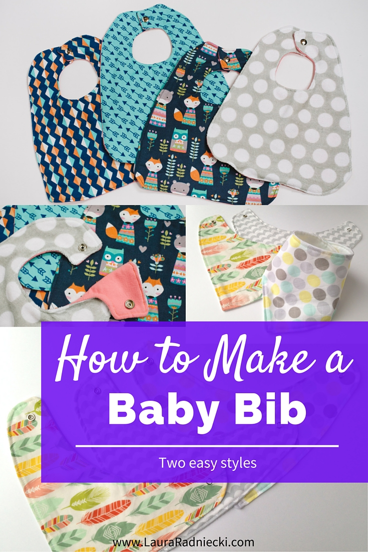 Baby Bib Tutorial - How to Make a Baby Bib - Easy Baby Bib - How to Sew a Baby Bib