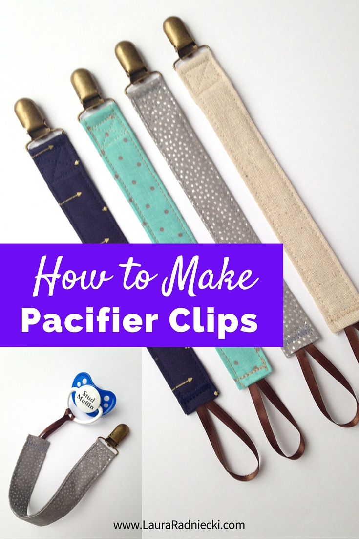 How to Make Pacifier Clips! An Easy Pacifier Clip Tutorial - Easy to Sew Pacifier Clips | Pacifier Clips DIY, Pacifier Clips Pattern