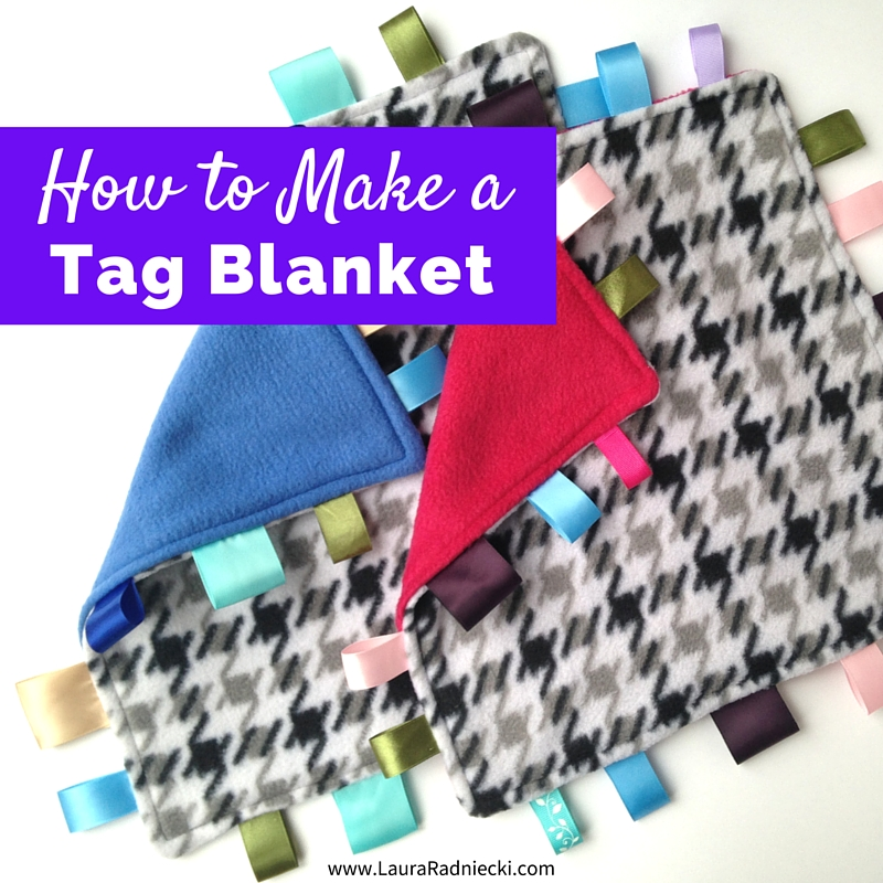 DIY Tutorial for a Taggie Blanket Lookalike | How to Make a Tag Blanket - Tag Blanket Tutorial - How to Make a Lovey Blanket - How to Sew a Tag Blanket