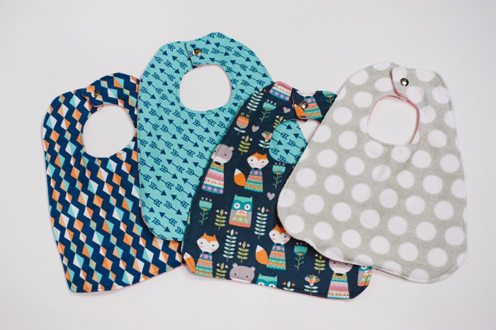 How to Make a Baby Bib | A tutorial on how to sew a baby bib