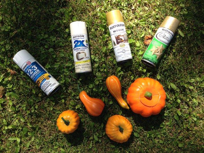 DIY Fall Pumpkins and Gourds - A Tutorial | Spray Paint Pumpkins | Fall decor ideas, fall decorations, fall decor porch, fall decor DIY, fall pumpkins decor