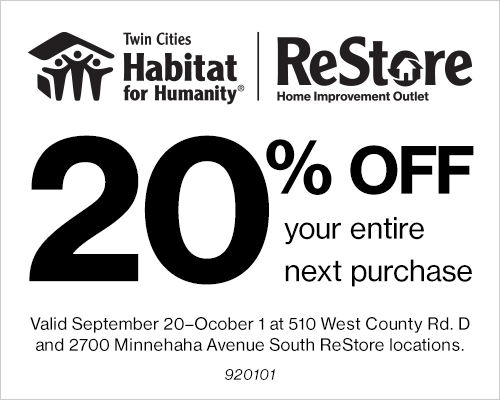 Habitat for Humanity ReStore Twin Cities Coupon