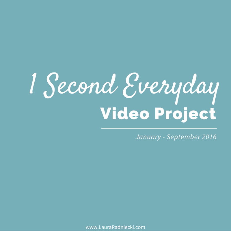 My 1 Second Everyday Video Project – January to September 2016