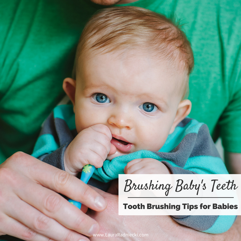 Brushing a Baby's Teeth