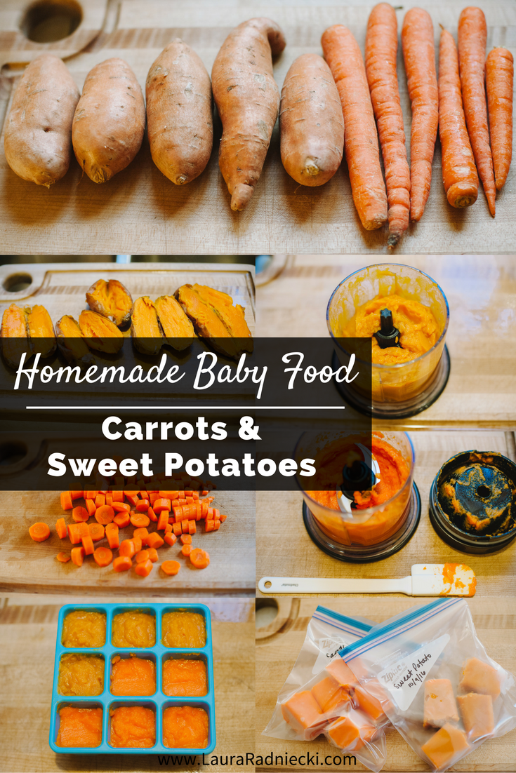 Homemade Baby Food Carrots and Sweet Potatoes   Homemade Baby Food Puree Carrots and Sweet Potatoes