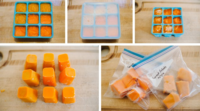 6 Ways to Freeze Homemade Baby Food Purees | Nuby Garden Fresh Freezer Tray | Freeze baby food, freeze baby food ice cubes, freeze baby food ideas