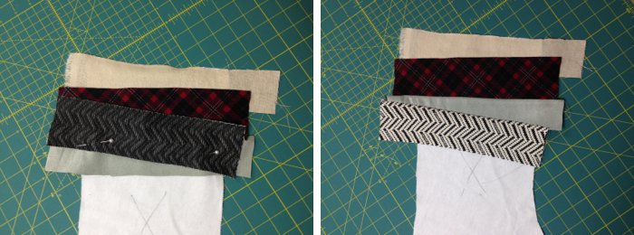 Patchwork Christmas stocking tutorial
