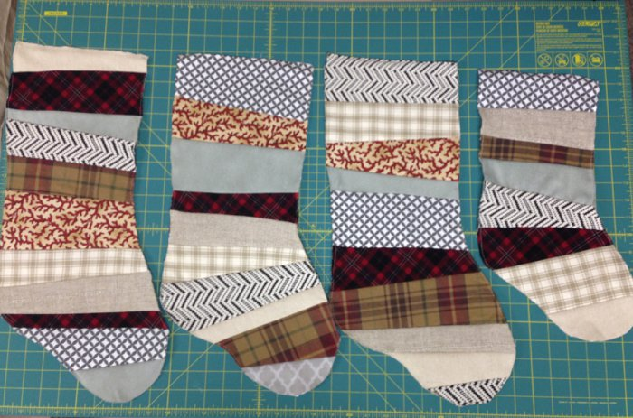 How to make patchwork Christmas stockings