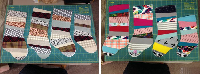 Make reversible stockings for Christmas