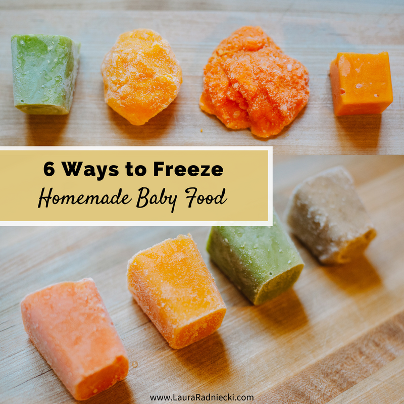 6 Ways to Freeze Homemade Baby Food