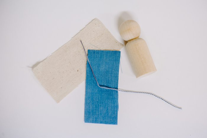Fabric supplies needed to make Mary for DIY nativity set