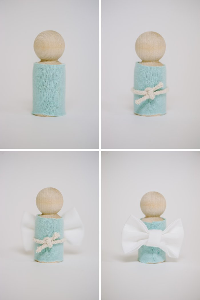 Make an angel for nativity set with wooden pegdolls