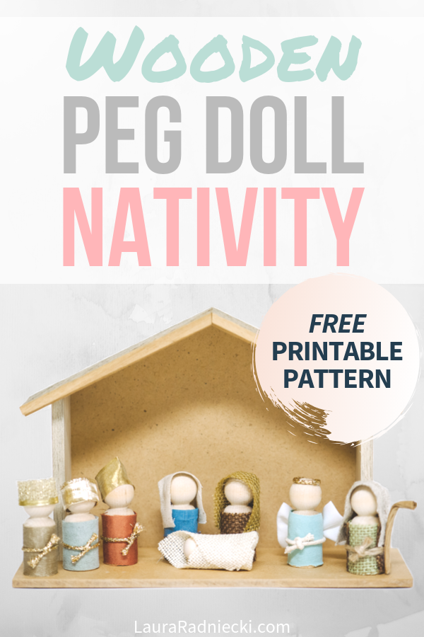 How to Make a Wooden Peg Doll Nativity Set