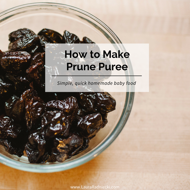 How to Make Prune Puree - Homemade Baby Food | Prune puree baby, prune puree baby food, prune puree recipes, prune puree for baby