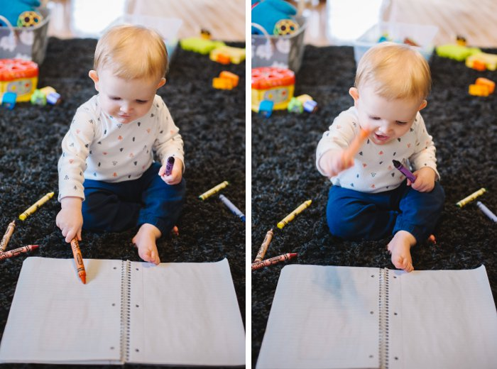Art with Raleigh - How to Introduce Art to a Baby - Baby Friendly Art - 3 Tips for Making Art Fun with Babies | Art for babies, baby art, baby art projects