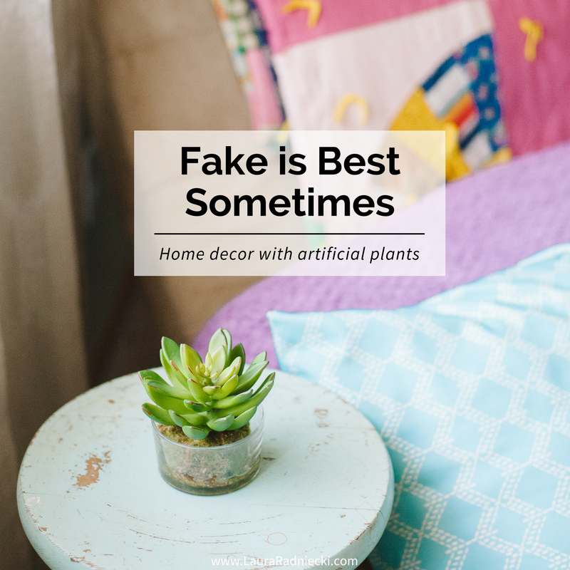 Home Decor With Artificial Plants