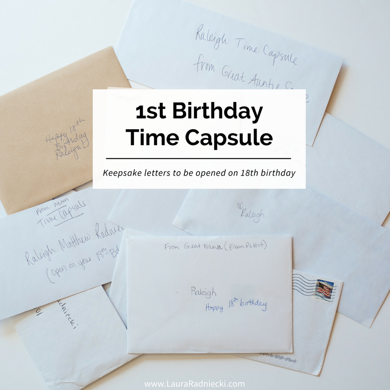 A Time Capsule For Raleigh S First Birthday Baby Time