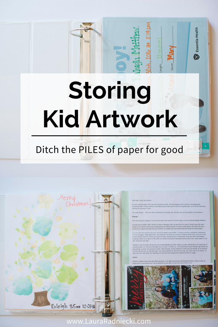 Storing Kid Artwork | Best way to preserve & store memorabilia | Ditch the piles of paper for good | Storing Kids Artwork, Kids Artwork Storage Ideas