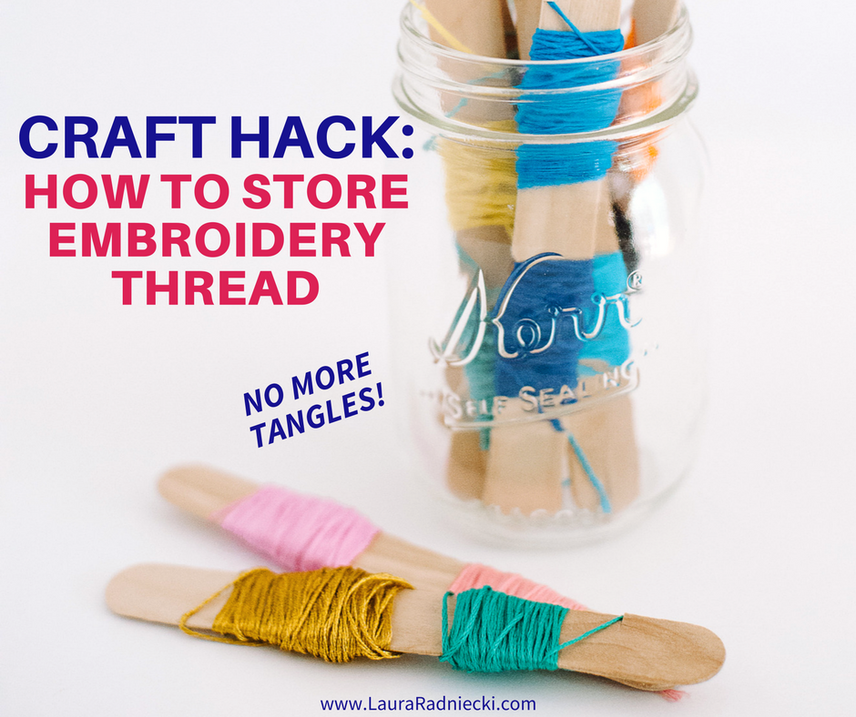 How to store embroidery thread without tangles - Embroidery floss storage ideas