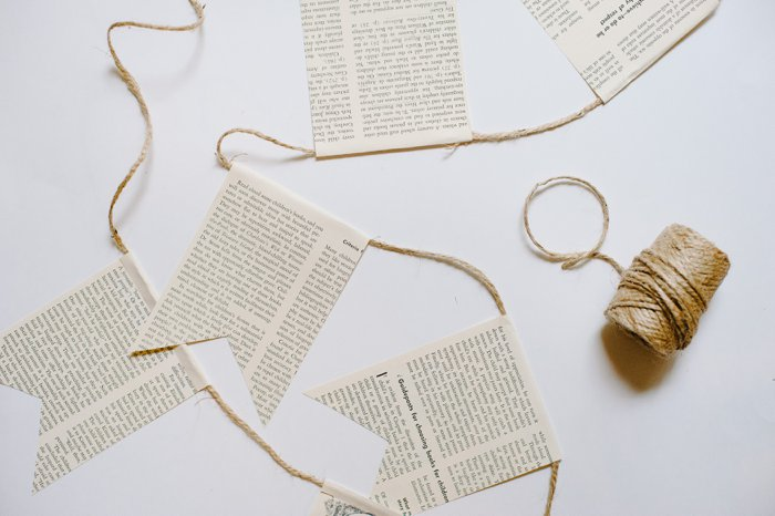 DIY Book Page Bunting Garland