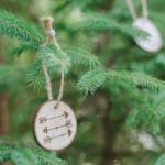 Wood Burned Christmas Ornaments on Wood Slices - DIY Ornaments