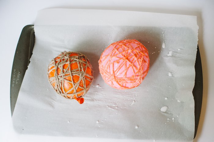 Fall Yarn Balloon Balls for Halloween and Thanksgiving Decor