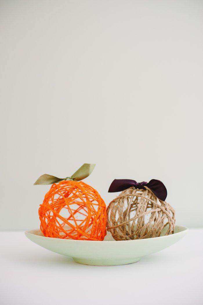 Fall Yarn Balloon Balls for Halloween and Thanksgiving Decor