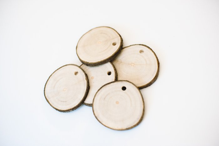 Wood slices for crafts