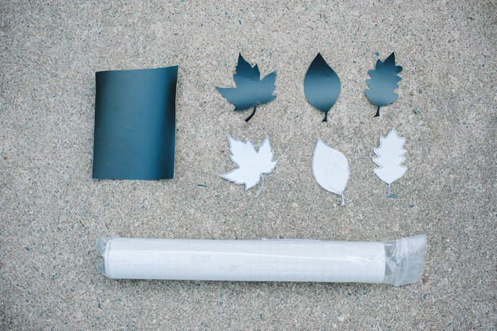 DIY vinyl leaf decals