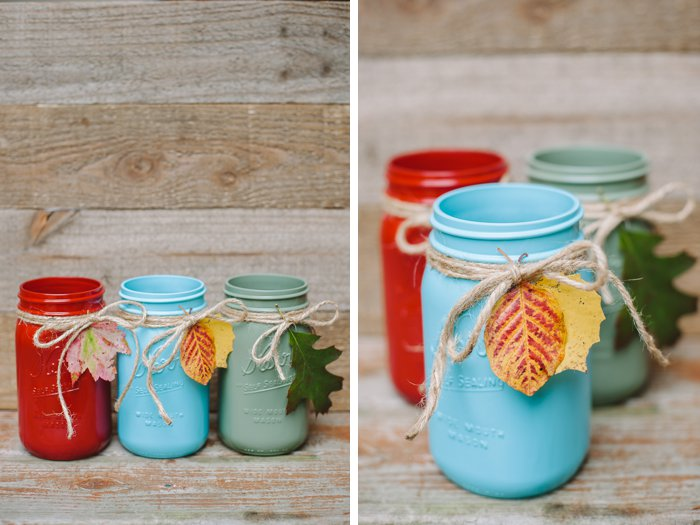 Gorgeous mason jars for fall