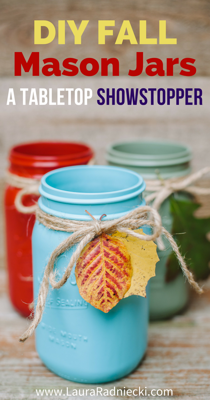 Reversible 2-in-1 DIY Fall Mason Jars - Easy Leaf Luminary Craft