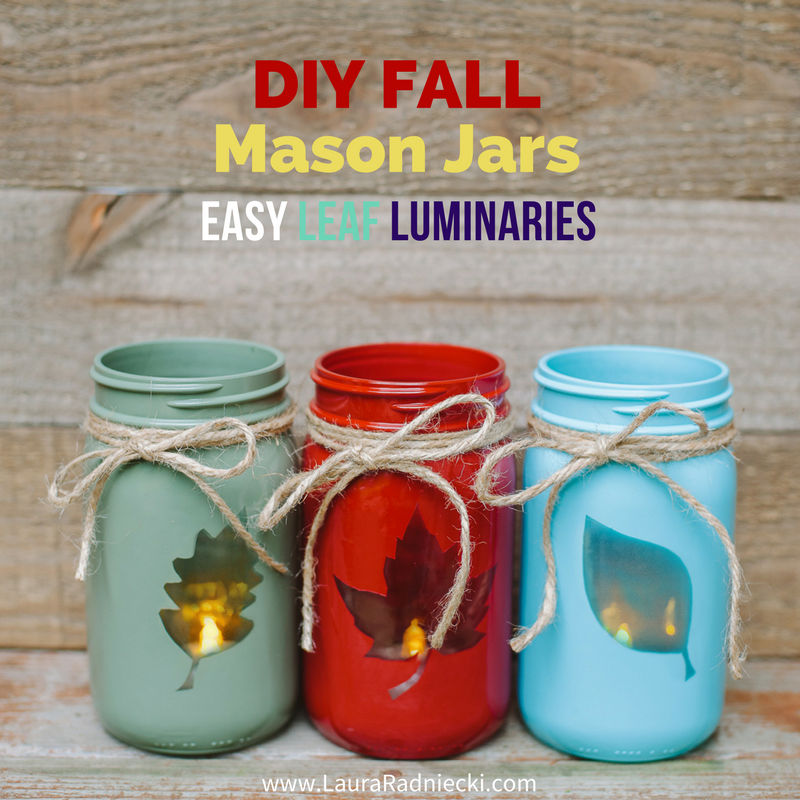 Mason Jar Decorations Part - 46: Looking For The Perfect Easy Fall Decoration For Your Mantel, Bookshelf Or  Front Porch? Look No Further Than These Reversible 2-in-1 DIY Fall Mason  Jars!