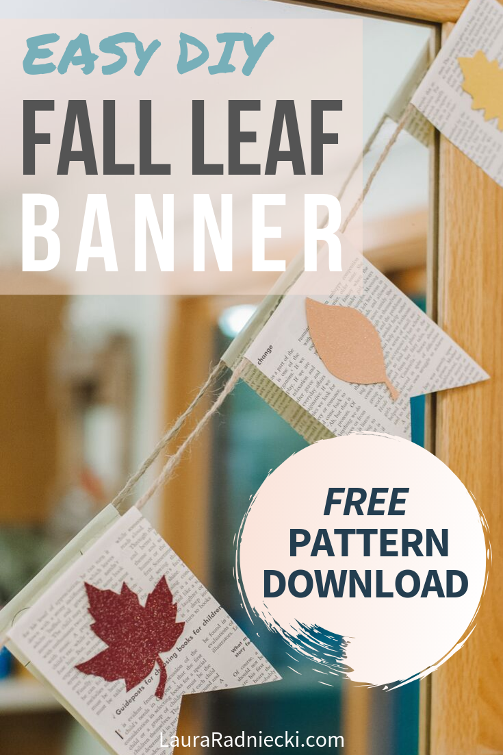 How to Make a Fall Leaf Banner with Book Pages _ Fall Decor Garland