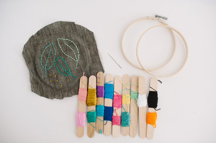 How to store embroidery floss without tangles | Embroidery thread storage idea