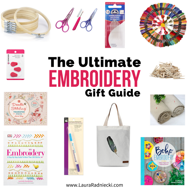 The Ultimate Embroidery Gift Guide | Gift Ideas for People Who Want to Learn How to Embroider