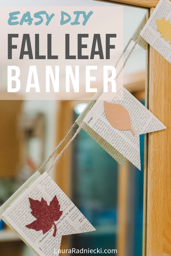 How to Make a Fall Leaf Banner with Book Pages