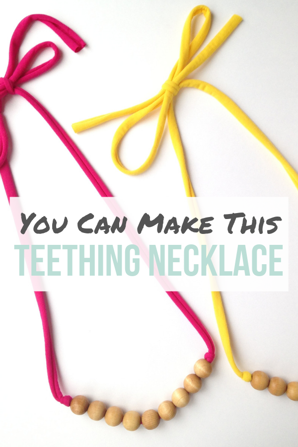 How to Make a Wooden Bead Teething Necklace _ Wood Bead Teething Necklace Tutorial _ Wooden Bead Teething Necklace