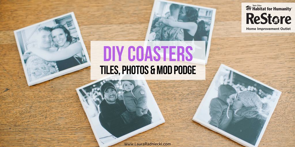 DIY Coasters | Repurpose with the Habitat ReStore on Earth Day _ DIY Mod Podge Coasters