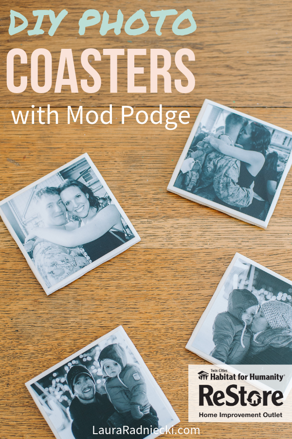 How to Make DIY Mod Podge Photo Coasters